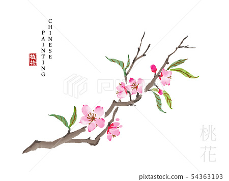 Watercolor Chinese ink paint art illustration 54363193