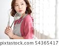 여성 요리 54365417