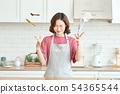여성 요리 54365544