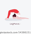 Woman yoga illustration with  typography Improve.  54366151