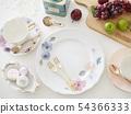 在瓷自創板材的早餐圖像 54366333