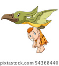 Pterodactyl and cute baby 54368440