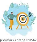 Business achievement, success concept. 54368567