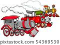 steam engine cartoon characters group 54369530