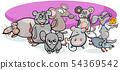 cartoon mice characters with cheese 54369542