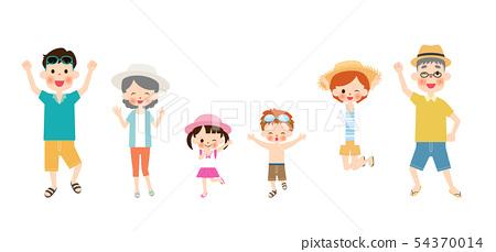 여름의 두 세대 가족 54370014