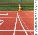 Common start/finish line of a track 54372574
