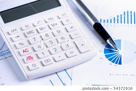 計算器報告白靛藍金融計算器金融keisanki金融 54372916