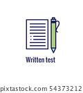 Drivers Test and License Icon Set and - Web Header 54373212