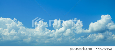 Blue sky clouds background. Beautiful landscape 54373458