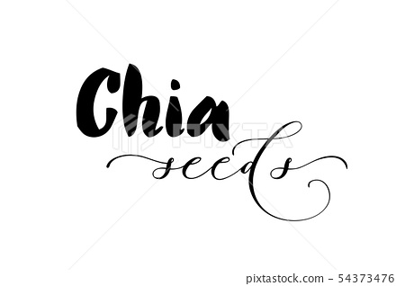 Chia seeds vector background 54373476