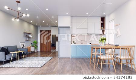 modern  living interior design. 54374192