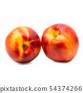 peaches on white background 54374266