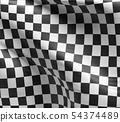 Checkered flag, racing flag background 54374489