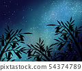 Tanabata background material 03 54374789