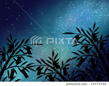Tanabata background material 03 54374789