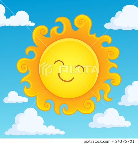 Happy sleeping sun theme image 4 54375701