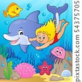 Girl and dolphin image 2 54375705
