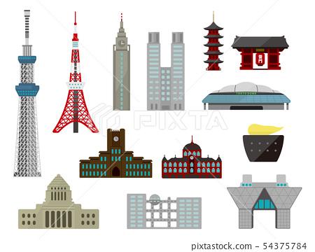 東京大廈,地標,建築圖組 54375784