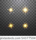 The dust is yellow. yellow sparks and golden stars shine with special light. Vector sparkles on a 54377504