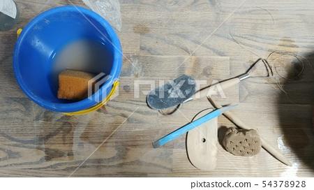 Porcelain Tools Scouring Tools Blue Water Bottle Sponge 54378928