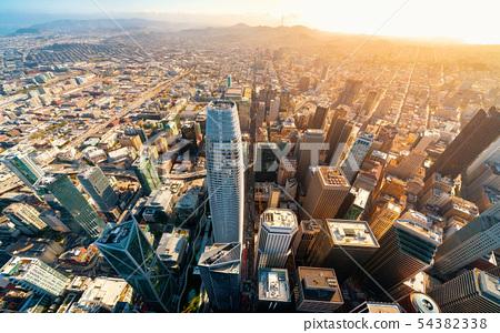 Downtown San Francisco aerial view 54382338