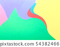 Abstract wavy multi colored paper background 54382466