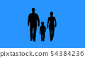 Family walking together. Parents and their child 54384236