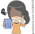 女人計算器絕望 54389420