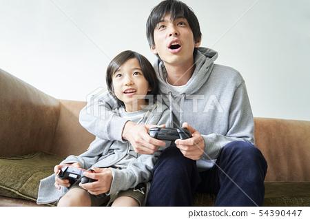 父母和孩子的生活方式 54390447