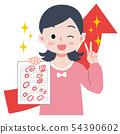 ภาพประกอบของเด็กผู้หญิงที่ได้เกรด 54390602