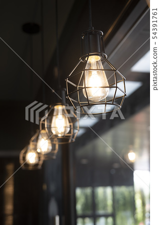 Vintage tungsten lamps and lanterns 54391761