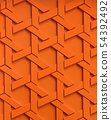 Abstract orange weave pattern. 54392492