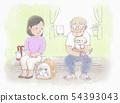 動物醫院候診室寵物主人 54393043