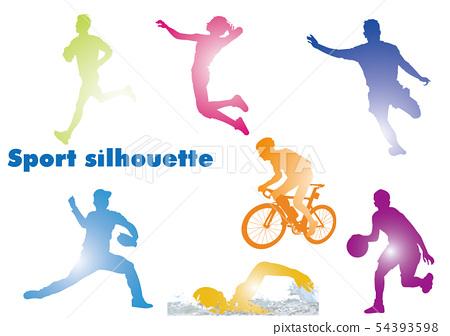 Sports silhouette