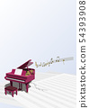Vector illustration design CG ai grand piano music note music 54393908