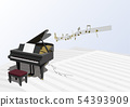 Vector illustration design CG ai grand piano music note music 54393909