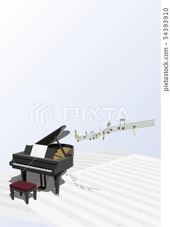 벡터 일러스트 디자인 CG ai 그랜드 피아노 악보 음악 사운드 콘서트 이벤트 54393910