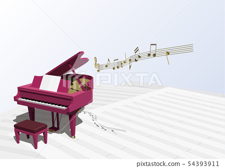 Vector illustration design CG ai grand piano music note music 54393911