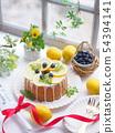 Sweet thyme with lemon chiffon cake 54394141