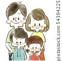 가족 - 부모 - 미소 - 수채화 54394225