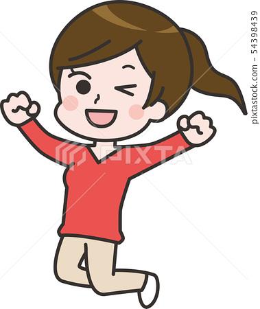 Jump woman A 54398439