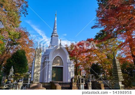 秋天Takao Stupa在八王子市,東京 54398958