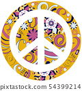 Decorative cool peace sign in vector 54399214