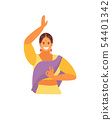 Dancing Indian girl vector 54401342
