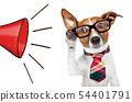 dog on the phone 54401791