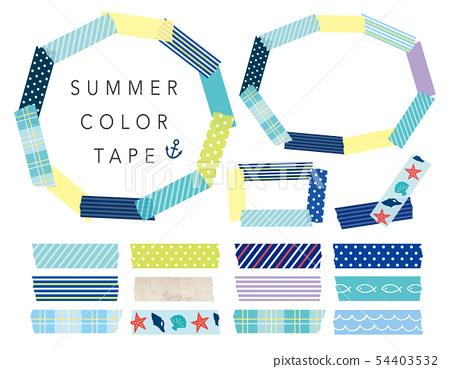 夏天顏色刷新的修稿帶框架 54403532