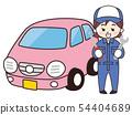汽车修理工女人和迷你车 54404689