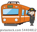 Train with driver's woman 54404812