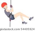 Senior Woman Thrill Seeker Illustration 54405924